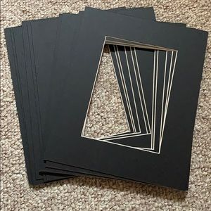 Lot of 80, black or white photo mats, 8x10 to 5x7